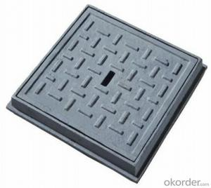Electrical ductile iron manhole cover EN124 D400