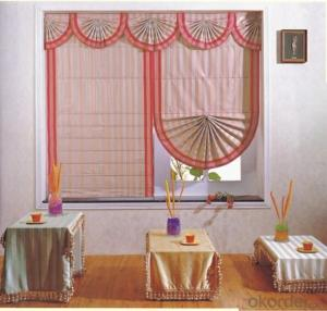 roller vertical fabric electric curtain of roman style