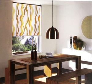 Digital Printed Faux Suede Vertical Blinds