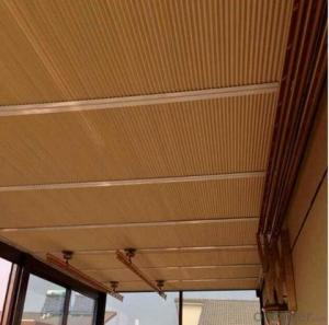 Ceiling Blinds with Faux Wood Blinds for Window Shutter