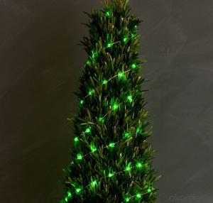 Clear Green Christmas Tree Copper Wire String for Outdoor Indoor Party Christmas Festival Decoration