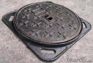 Ductile Iron Manhole Cover with Heavy Duty in Square and Round