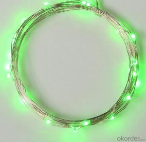 Water-proof Green Copper Wire Led Light String for Christmas Tree Decoration