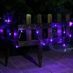 Purple Copper Wire String Lights for Outdoor Indoor Wedding Christmas Party Decoration