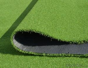 Golf balls are placed in green artificial grass golf.