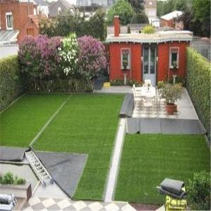 Artificial Lawn Planted with Flowerpot