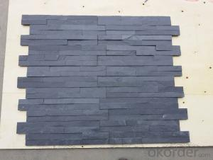 Wall stone panels black slate wall stone cladding ledger panels