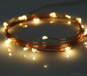 Orange Copper Wire Led Light Bulbs string for Outdoor Indoor Wedding Holiday Garden Decoration