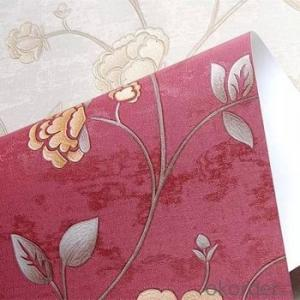 3d Flower Designer Vinyl Embossed Wallpaper for Home Decor