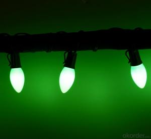 New Design Green LED Light Bulb String for Outdoor Indoor Wedding Holiday Stage Decoration