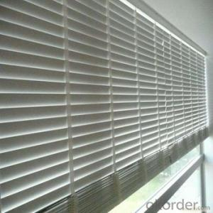 Bamboo Roller Blind with Plantation Shutters