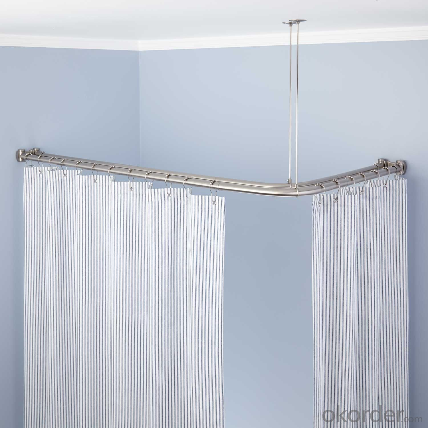 simple curtain rail for corner curtain design
