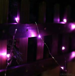Purpule Copper Wire LED Light String for Stage Wedding Bar Decoration