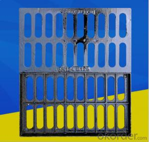 Vented EN124 Ductile Iron Hinged Manhole Cover B125