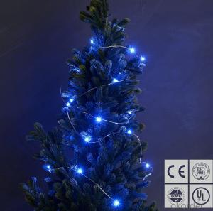 Vintage Style Blue Copper Wire String Lights for Outdoor Indoor Christmas Party Decoration