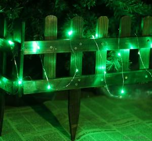 Green Copper Wire Led Light Bulb String for Christmas Day Garden Stage Decoration