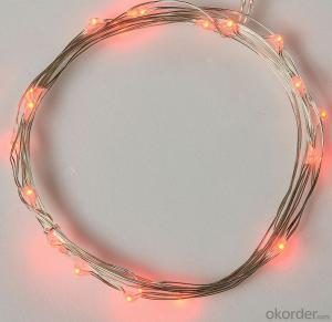 Water-proof Red Copper Wire LED Light Bulb String for Wedding Holiday Party Decoration
