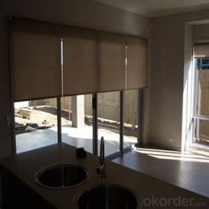 waterproof loaded roller blind with magic screen