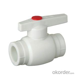 Plastic Ball Valve with Brass Ball Made in China