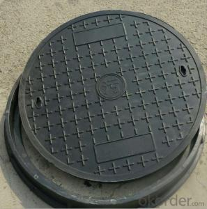 EN 124 ductile iron manhole cover with high quality and competitive price