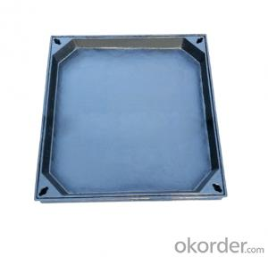 Casting EN 124 ductile iron manhole covers with high quality for industry and construction