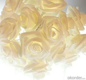 Yellow Rose-shaped Led String Lights for Festival Wedding Party Decoration