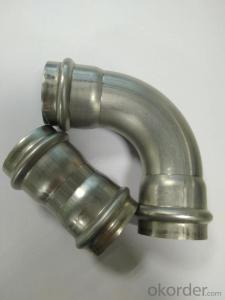 Stainless Steel Sanitary Fitting Coupling & 90deg Elbow 28mm V Profile 304