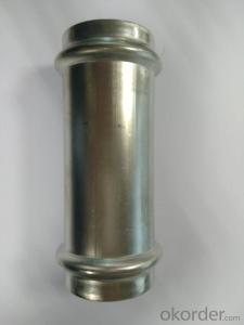 Stainless Steel Sanitary Fitting Slip Coupling 42mm V Profile 304