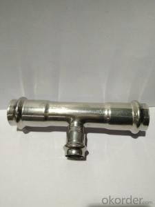 Stainless Steel Sanitary Fitting Reducing Tee DN32x20 V Profile 304