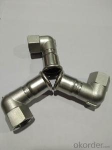 Stainless steel sanitary fitting 90° Angle Adaptor DN15 M Profile 304