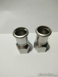 Stainless Steel Sanitary Fitting Female Coupling DN15x1/2 M Profile 304
