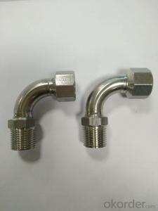 Stainless Steel Sanitary Fitting 90deg Elbow with Female & Male Thread DN15x1/2 V Profile 304