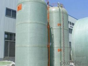 FRP tanks and vessels with no toxic and High mechanical inertness on sales