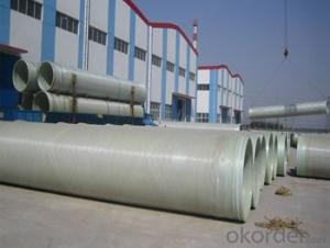 High mechanical property with High Pressure GRE Pipe with noxic of different styles