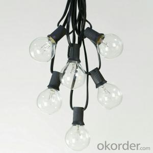Water-proof Incandescent LED Light Bulb String for Cafe Hotel Garden Decoration
