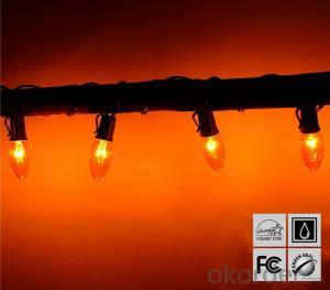 Water-proof Orange Copper Wire LED Light Bulb String for Cafe Garden Bar Decoration
