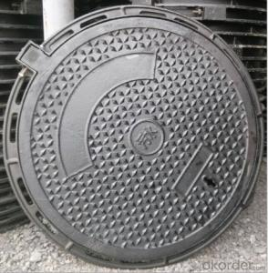 cast ductile iron manhole cover for mining and industry OEM in China