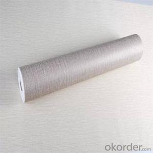 Classic Textile Wallcovering Plain Linen Fabric Wallpaper for Home