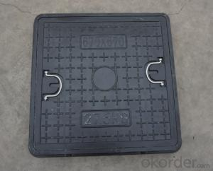 Casting Ductile Iron Manhole Covers D400 B125 with Competitive Price in China
