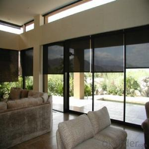Zipper Roller Blind Curtains for The Living Rooms