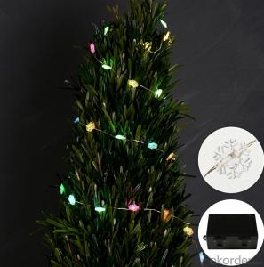 Clear New Style Snowflake Solar Light String for Christmas Party Wedding Decoration