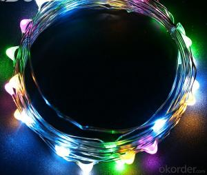 Colorful New Style Copper Wire String Lights for Outdoor Indoor Garden Holiday Decoration
