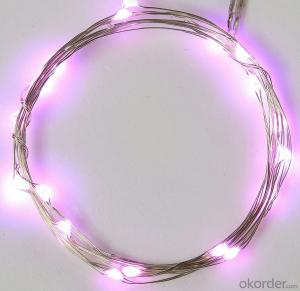 Purple Water-proof Copper Wire LED Light String for Cafe Garden Bar Decoration