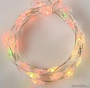 Colorful Copper Wire Led Light String for Roof Holiday Bar Decoration