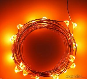 Vintage Style Orange Copper Wire String Lights for Indoor Christmas Party Birthday Decoration