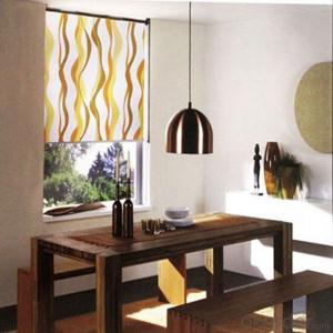 New Sunscreen Fabric Rollers Shangri-la Curtain In Shading