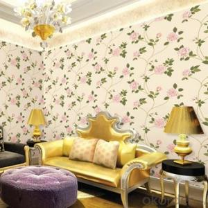 European Style Waterproof Retro PVC Wallpaper for Hotel Decoration