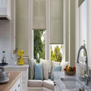 Window Coverings Shangri-la Roller Blind And Curtain For French Door