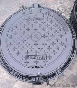 Ductile Casting Iron Manhole Cover with Square or Round Designs