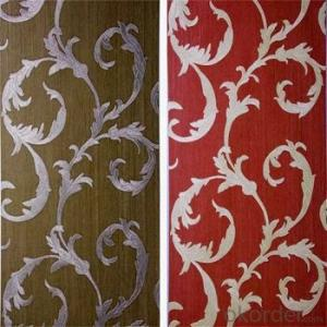 PVC Wallpaper Home Deep Embossed  Wallpaper